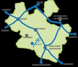Carte Féeole en Pays de la Roche aux Féés