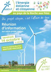 Réunion d'information sur le projet de parc Energie des Fées le 10 Octobre 2016